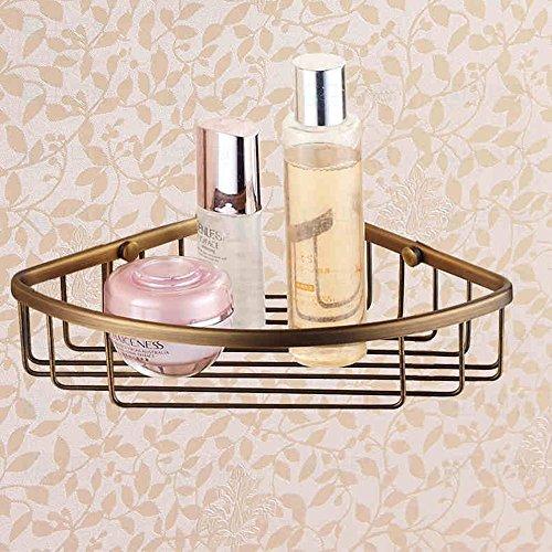 FUFU Badezimmer Regal Copper Triangle Einwandiges Corner Frame/Antique Continental Badezimmer Hardware-Rack Continental Duo