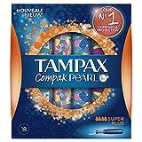 Tampax Compak Pearl Assorbenti Interni Super Plus con Applicatore, 18 Pezzi in Confezione da 3