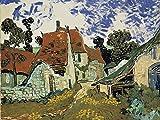 Artland Qualitätsbilder I Bild auf Leinwand Leinwandbilder Wandbilder 60 x 45 cm Landschaften Europa Frankreich Malerei Bunt B6GO Dorfstraße in Auvers 1890