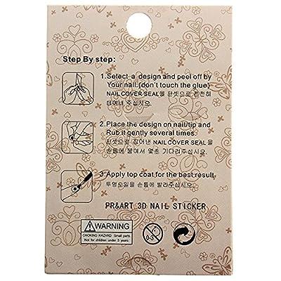 Bluelover 3D Golden Bowknot Stern Nail Art Sticker Aufkleber