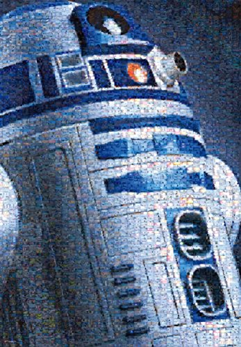1000 piece jigsaw puzzle STAR WARS R2-D2 (photo mosaic) (51x73.5cm)