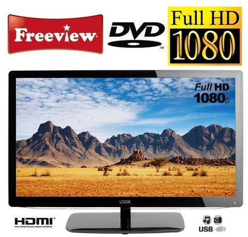 "LOGIK L24FED12 24"" Full HD 1080p LED TV with Freeview, DVD Player, HDMI, SCART, USB"