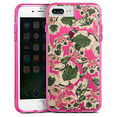 Apple iPhone 6 Bumper Hülle Bumper Case Glitzer Hülle Steinrohner Blumen ohne Hintergrund Bumper Case transparent pink