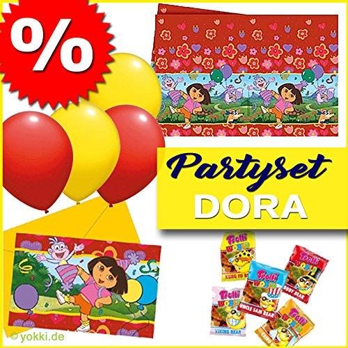 Dora The Explorer - Partypaket Kindergeburtstag Einladungskarten Tischdecke Ballons