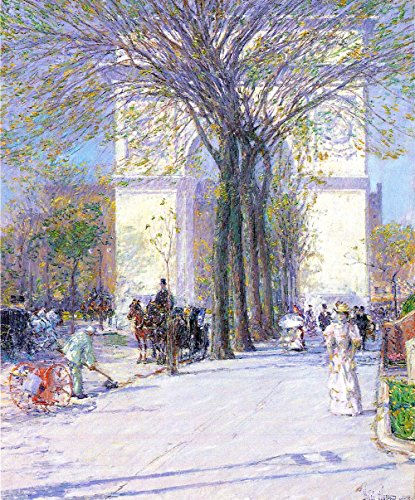 Das Museum Outlet - Washington Triumphal Arch In Spring by Hassam - A3 Poster