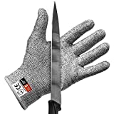 Romancy Schnittfeste Handschuhe Leistungsfähiger Level 5 Schutz Sicherheit Handschuh Arbeitshandschuhe (L)