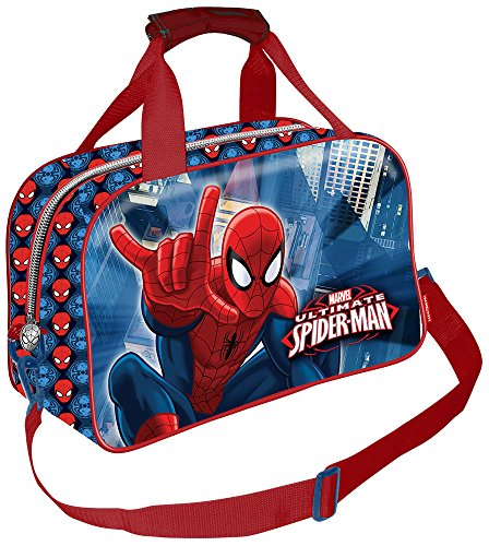 KARACTERMANIA Spider Bolsa de Deporte Infantil, 38 cm, Azul
