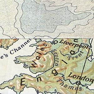Just Contempo Funda de edredón, diseño Vintage de Mapa, Mezcla de algodón, Funda de edredón Cama Individual (Moderna)