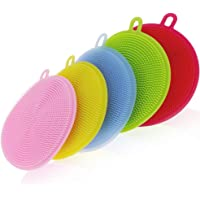 Naivete Cleaning Supplies Sponges Silicone Scrubber for Kitchen Non Stick Dishwashing & Baby Care Sponge Brush Household…
