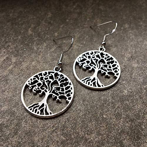Ohrringe HOLY TREE   Ohrhaken aus Silber 925   Baum des Lebens   keltischer Weltenbaum   tree of...