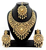 GERUAA Designer Golden Stone Wedding Bri...