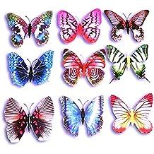 Imanes de nevera LEORX ukgd mariposa decoraciones - 10 piezas (color al azar)