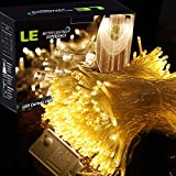 LE LED Window Curtain Icicle Lights,306 LEDs String Fairy Lights,3mx3m,8 Modes,Warm White,Christmas/Thanksgiving/Wedding/Party Backdrops Decorative Lights