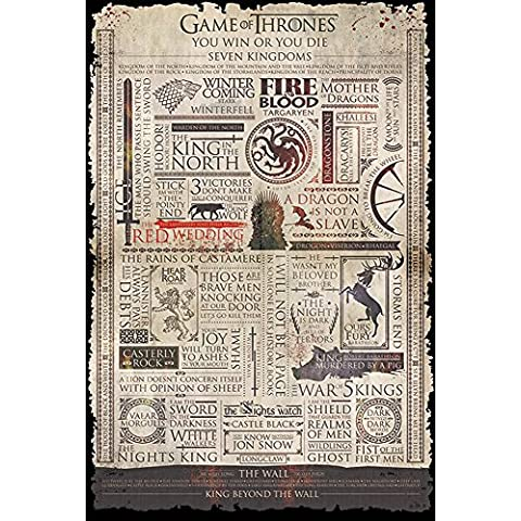 empireposter 719294 Game of Thrones – Info graphic – Fantasy Film Poster, Carta, Multicolore, 91,5 x 61 x 0,14 cm