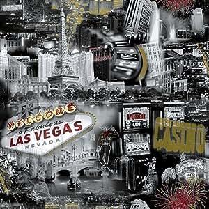 Grandeco Papier Peint Ideco Las Vegas Noir Blanc Photographique Casino POB-35-01-4