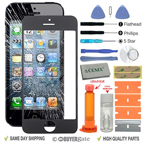 acenix-black-touch-screen-front-glass-lens-replacement-repair-kit-with-loca-glue-loca-remover-for-ap
