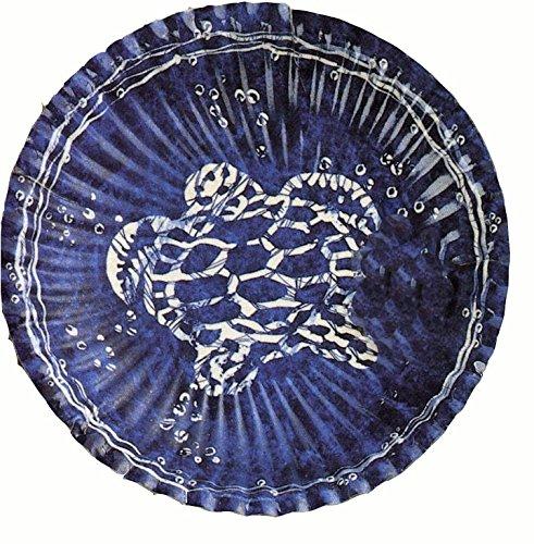 10 petites assiettes de la mer Tortue blanche sur fond bleu Ø 18 [8018100007364]