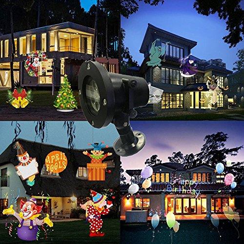 LED Projektor Landschaft Lichter Wasserdichte Schneeflocke Scheinwerfer mit 16 Austauschbare Folien Flim Lampe für Weihnachten Halloween Geburtstag Hochzeit Outdoor Indoor Home Decor