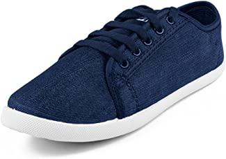 Asian shoes LR-13 Navy Blue Canvas Ladies Shoes