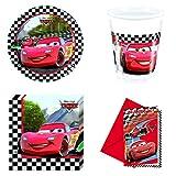 Cars 2 Party-Set (Pappteller, Kunststoffbecher, Papierservietten und Einladungskarten)