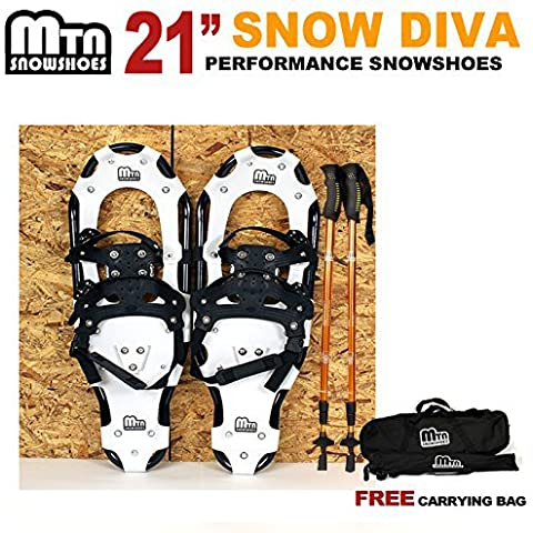 New MTN Man Woman Kid Youth 21 black Snowshoes+Nordic pole+