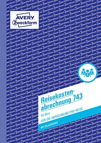 Preisvergleich Produktbild Avery Zweckform 743 Reisekostenabrechnung (A5, mit 1 Blatt Blaupapier, 50 Blatt) weiß