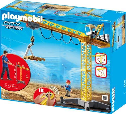 Preisvergleich Produktbild PLAYMOBIL 5466 - Großer Baukran mit IR-Fernsteuerung