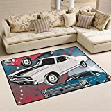 COOSUN American Muscle Cars Area Rug Carpet Non-Slip - Best Reviews Guide