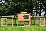 Zooprimus  Cage Clapier lapin Extérieur en bois de  Haute Qualité pour lapins 2,20 x 0,55 m