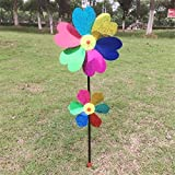 #7: Generic Colorful Wind Spinner Whirligig Garden Windmill Plastic For Creative Garden Decor Kids Toy A8