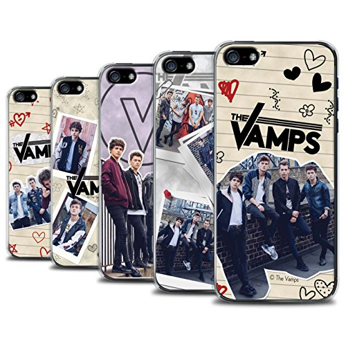 Offiziell The Vamps Hülle / Case für Apple iPhone 5/5S / Pack 5Pcs Muster / The Vamps Doodle Buch Kollektion Pack 5Pcs