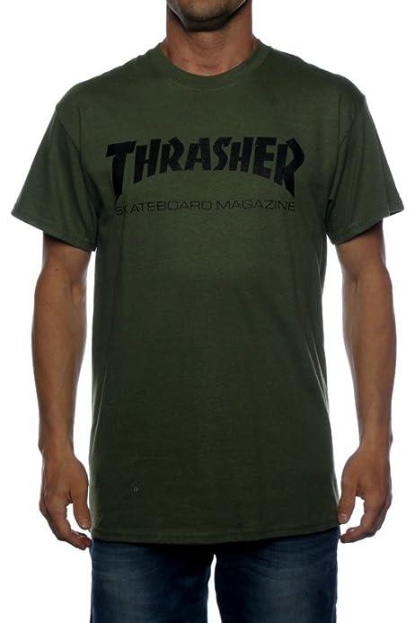 Thrasher Skate-Mag Army - Camiseta verde M : Amazon.es: Ropa