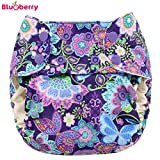 Blueberry Simplex One Size (AIO) plástico pañales–Butterfly Garden (druc Grava)–One Size (5,5–16kg)–Plástico pañales pañales a través de pantalones, pantalones, prefolds Adecuado