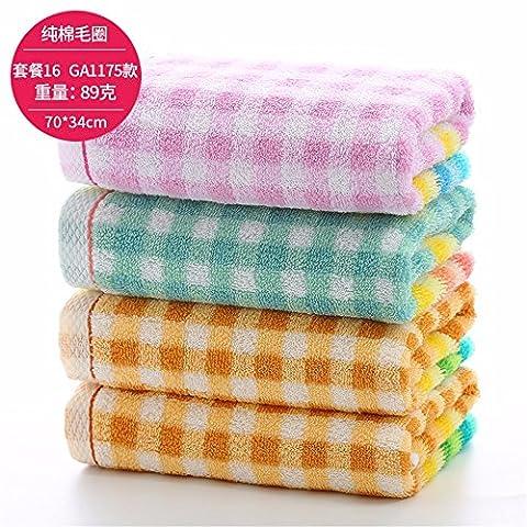 HZBY 4. handtücher, reine baumwolle große gesicht waschen, handtuch, erwachsenen gesicht, baumwolle, verdickung, weich, absorber,n