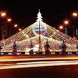 FROADP 6x2 m LED wasserdichte Indoor Outdoor Net lights Lichternetz Vorhang Lichter Netz Beleuchtung Deko Weihnachten Halloween Hochzeit Party oder Stimmung Lichter(Warmweiß)