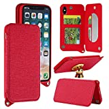 Alfort Coque iPhone X, Housse iPhone X, Etui de Protection Folio en PU Cuir Haute...