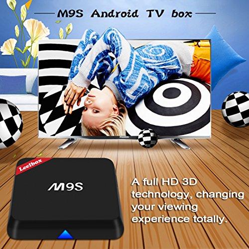 2016 Neuste Modell M9S Android TV BOX 2GB RAM 16GB ROM Amlogic S812 Quad Core AP6330 Dual Wi-Fi unterstützt 802.11n Neuste Version KODI 16.1 Android 5.1 Vorinstallierte Plugins Updated Von Leelbox Q1 M8S - 2