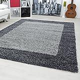 Designer rugs&carpets Non-Shedding Shaggy living room long pile carpets square 30 mm pile height 1503, Size:120x170 cm;Color:grey