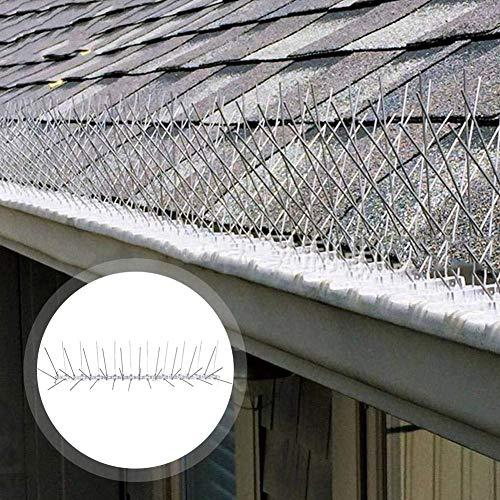,Edelstahl-Vogelstecker 3 m, Vogelabwehrset und Klebeband mit durchsichtigen Kabelbindern Anti-Climb-Spikes Um Vögel Zu Verhindern ()