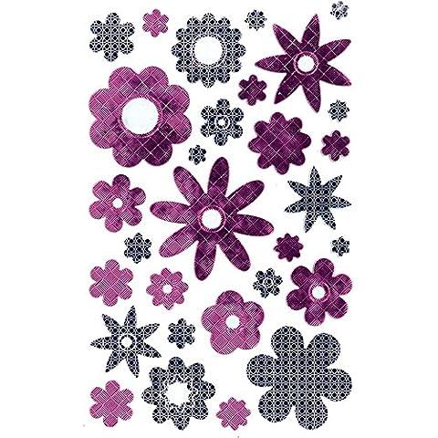 Avery 57.871 Decoración, Flor, película efecto, 1 hoja, 30 pegatinas, rosa