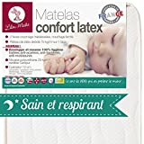 LILOU MIAKA - Matelas bébé Confort Latex - pour lit 60 x 120