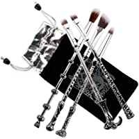 Makeup Brush,Magic Wand Brush Gift Set 5 Pieces Nice Hair Bristle Fancy Look, Silver Black Ithyes