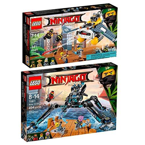 Preisvergleich Produktbild The Lego NINJAGO Movie 2er Set 70609 70611 Mantarochen-Flieger + Nya's Wasser-Walker