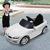 Coche Eléctrico Bateria 6V Mando Control Remoto y conexion MP3 Llaves encendido Luces de Faros y Claxon BMW 81800 Color Blanco Automóviles Infantiles para Niños