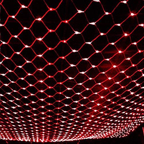 Unbekannt 2 Meter * 3 Meter LED-Leuchten Mesh-Lichterketten Hochzeit Party Außendekoration Innendekoration Nettolicht, US-Bestimmungen/Europäischer Norm-Stecker British regulatory/Red