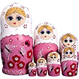 YAKELUS, professional brand of Matrioska, Russian Dolls Matryoshka 7 piece Russian Matryoshka of 7 Layers, handmade and by linden, is a toy and a gift