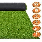 Premium Kunstrasen | Rasenteppich | Rollrasen | Kunststoffrasen | Garten-Rasen | Rasen für Balkon, Terrasse & Garten | viele