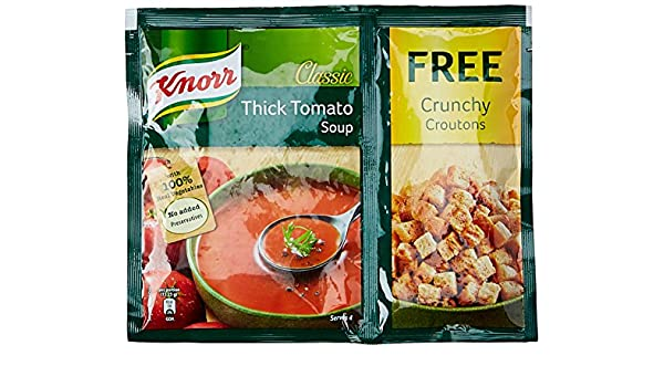 Knorr Classic Tomato Soup 61g With Free Crunchy Croutons Amazon In Grocery Gourmet Foods