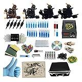 Zwang Tatuaggio professionale per principianti Kit 2 pistole a macchina Alimentazione digitale per tatuaggio LCD con pedale e clip