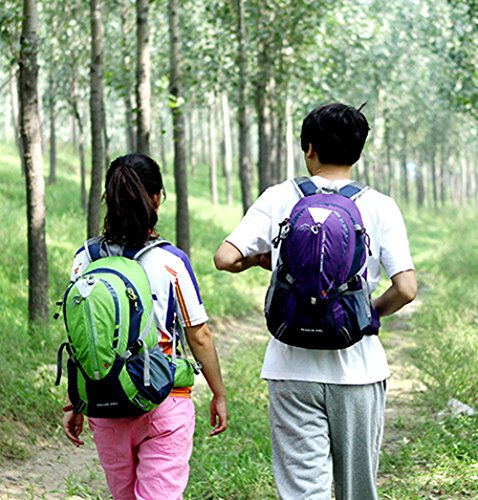 Cuckoo 25L wasserdicht Camping Reisen Radfahren Rucksack Wandern Daypacks Sport Rucksack mit Regen Abdeckung Laptop-Fach Rosa